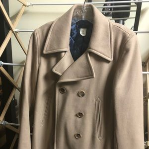 JCrew thinsulate lined pea coat, size M